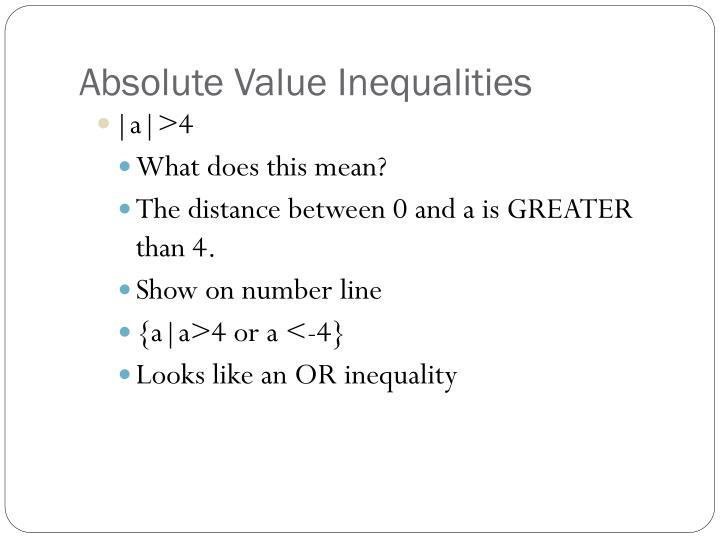 Absolute Value Inequalities