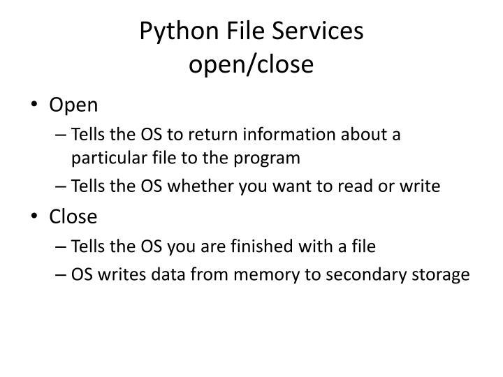 Python File Services