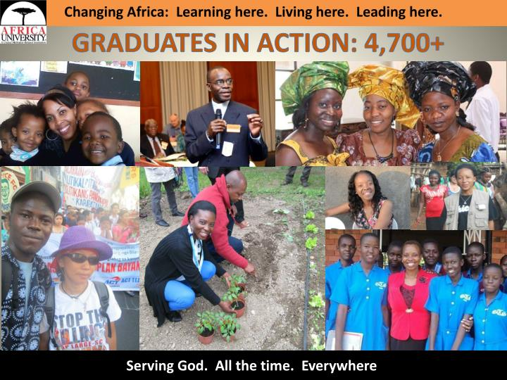 Changing Africa: Learning here. Living here. Leading here.