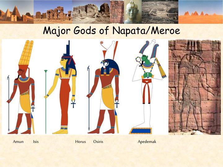 Major Gods of Napata/Meroe