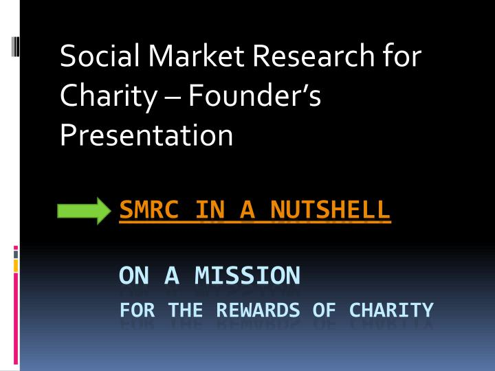 social market research for charity founder s presentation