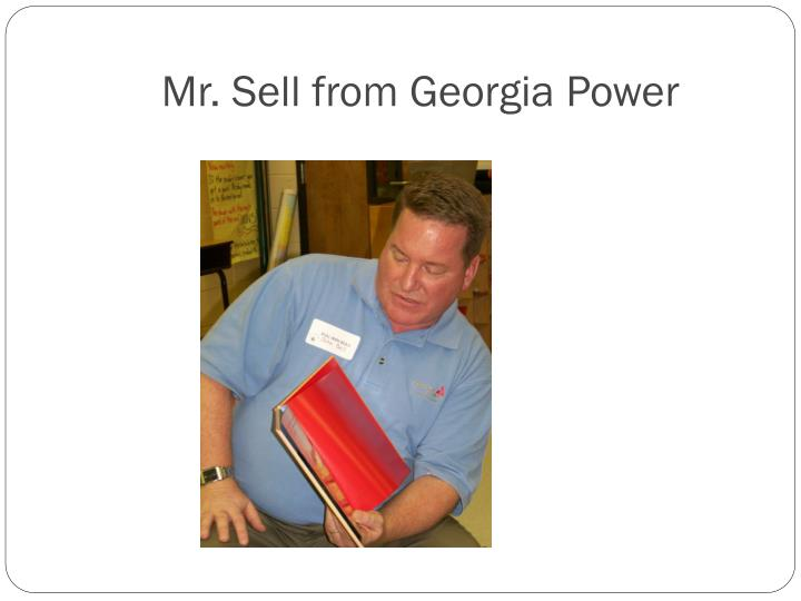 Mr. Sell from Georgia Power