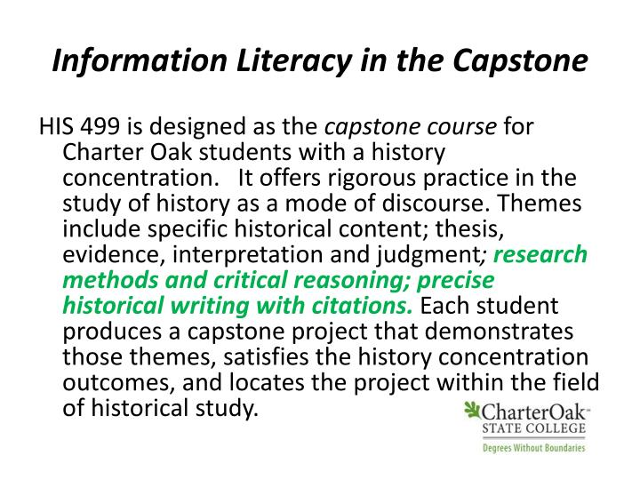 Information Literacy in the Capstone