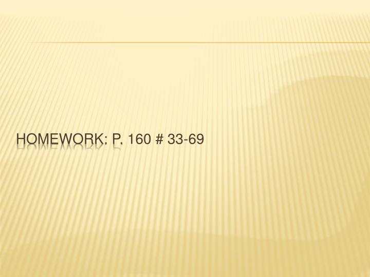 Homework: p.