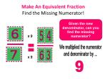 make an equivalent fraction find the missing numerator