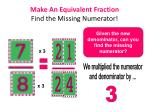 make an equivalent fraction find the missing numerator1