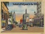 postcard of hollywood in the 1930 s