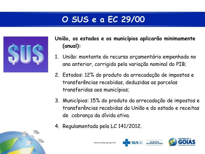 O SUS e a EC 29/00