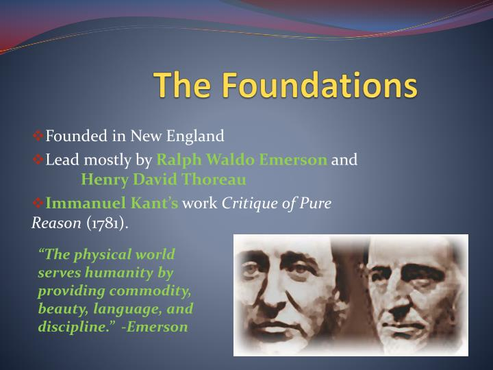 The foundations
