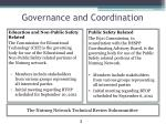 governance and coordination