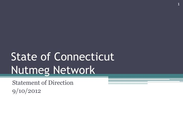 state of connecticut nutmeg network