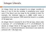 integer literals