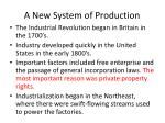 a new system of production