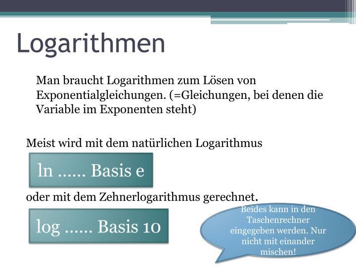 Logarithmen