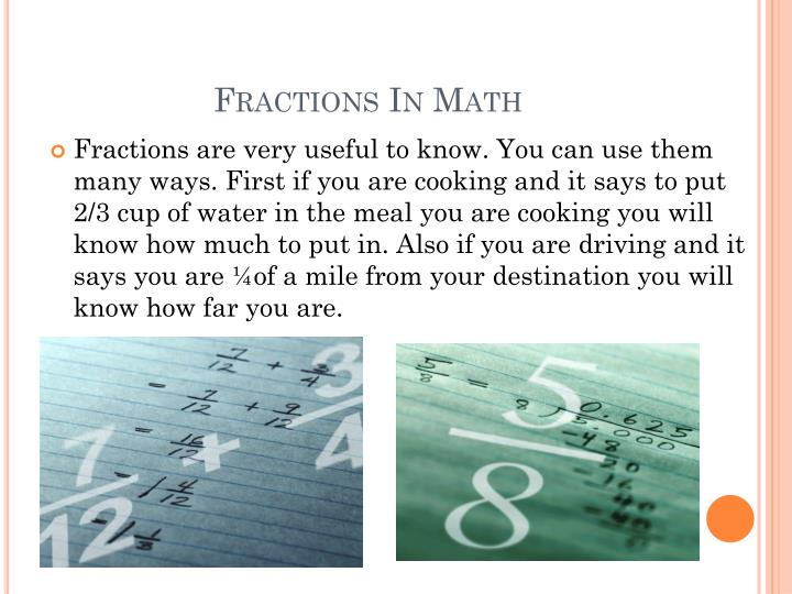 Fractions In Math