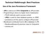 technical walkthrough best practices2