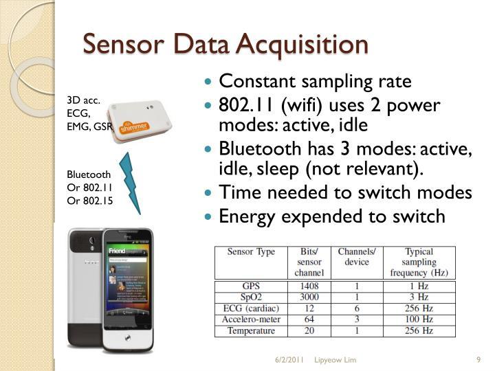 Sensor Data Acquisition