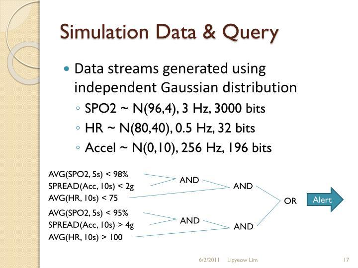 Simulation Data & Query