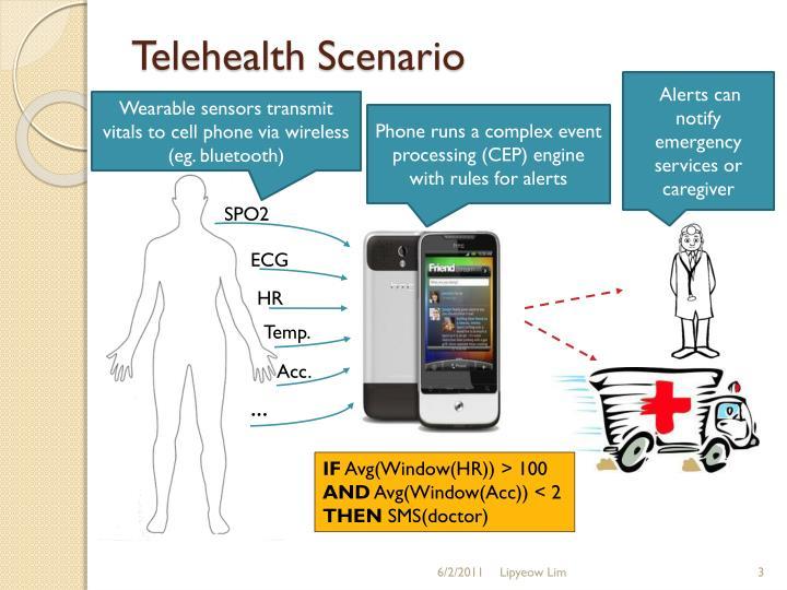 Telehealth scenario