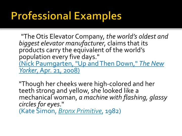 Professional Examples