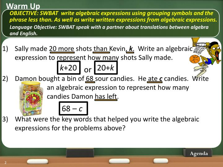 Ppt Writing Algebraic Expressions Lesson 4 Powerpoint Presentation