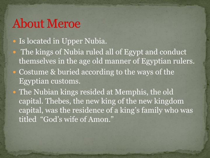 About Meroe