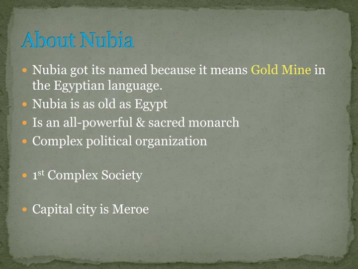 About nubia