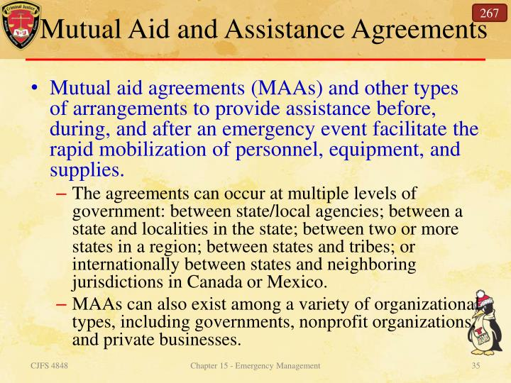 Mutual Aid and Assistance Agreements