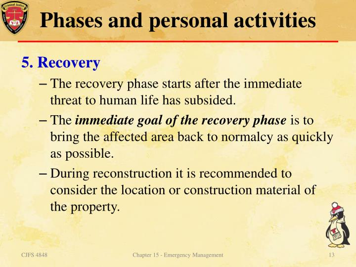 Phases and personal activities