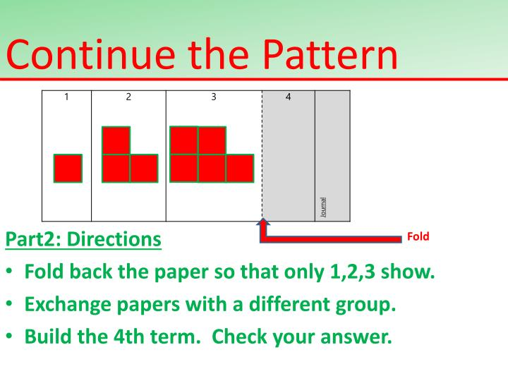 Continue the Pattern