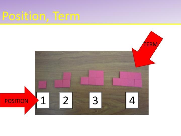 Position, Term