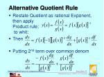 alternative quotient rule