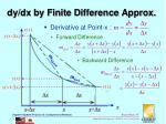 dy dx by finite difference approx