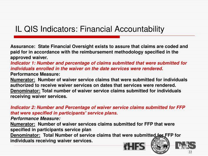 IL QIS Indicators: Financial Accountability