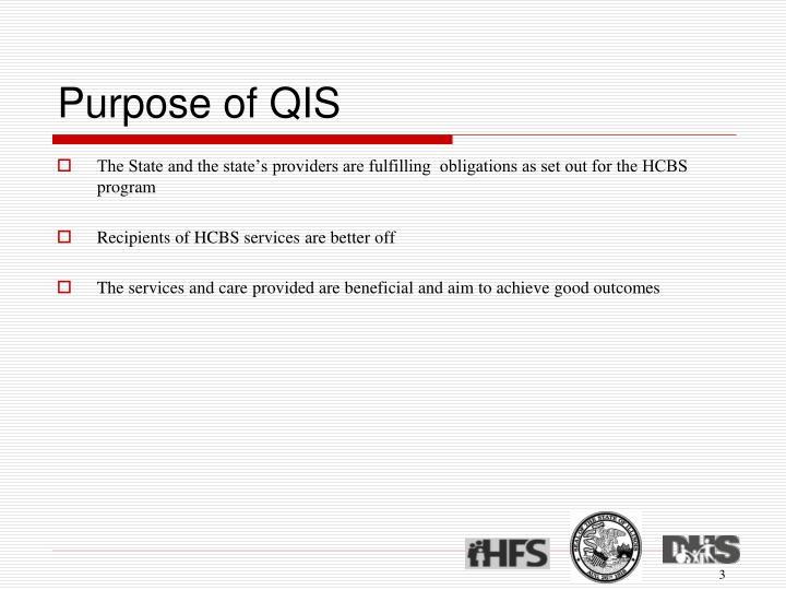 Purpose of qis