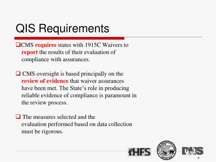 QIS Requirements