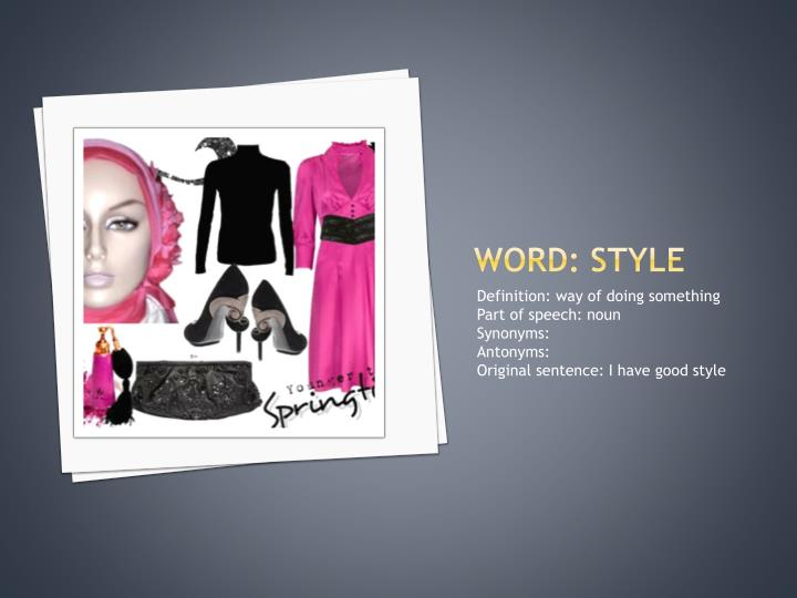 Word: style