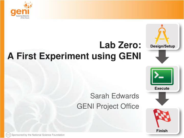 lab zero a first experiment using geni n.