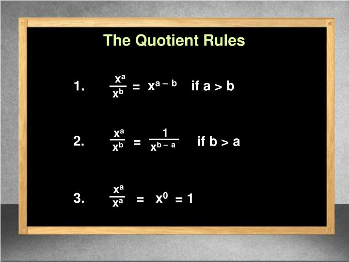 The Quotient Rules