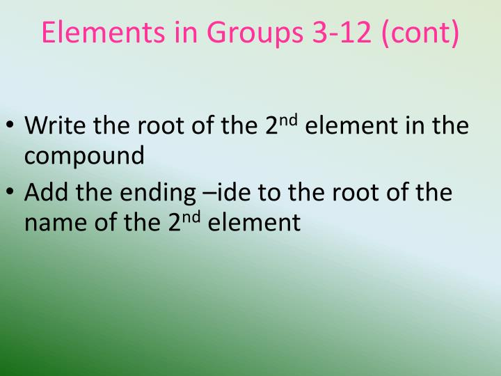 Elements in Groups
