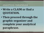 analytical paraphrase