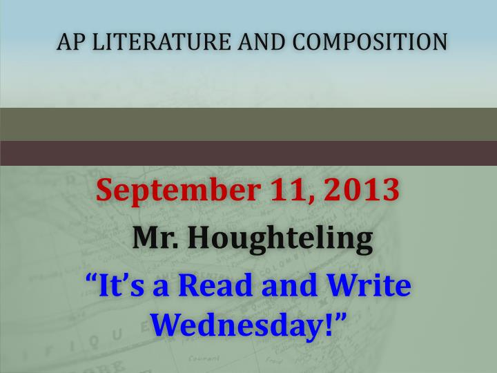 ap literature and composition n.
