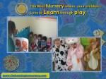 the best nursery where your children love to learn through play