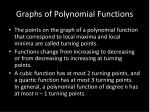 graphs of polynomial functions1