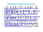 websites used for pictures