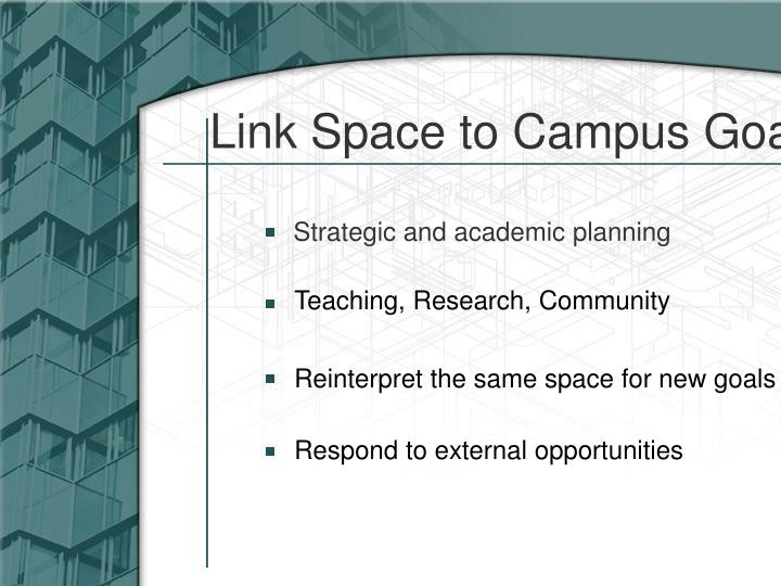 Link Space to Campus Goals