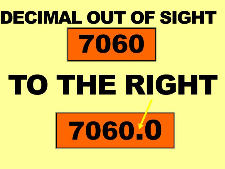 DECIMAL OUT OF SIGHT
