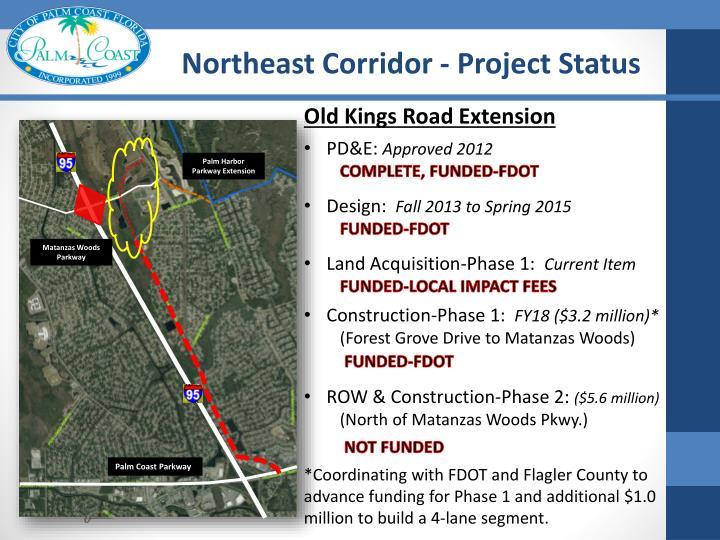 Northeast Corridor - Project Status