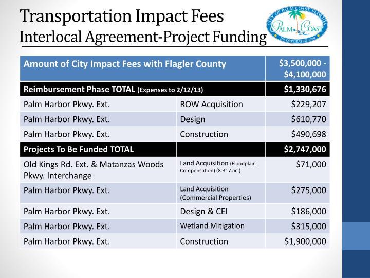 Transportation Impact Fees