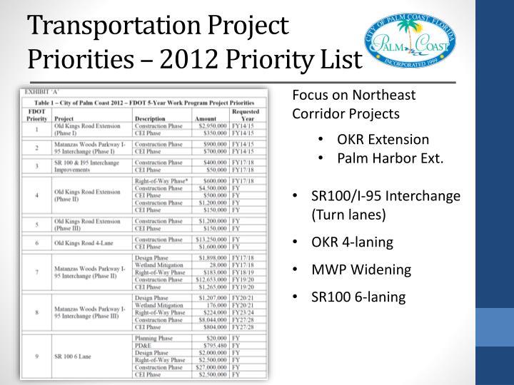 Transportation Project